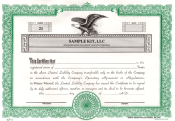 LLC Certificates for Corporate Kit