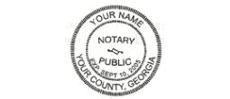 06NS3 - Notary pocket seal 