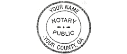 06NSDESK - Notary desk seal 